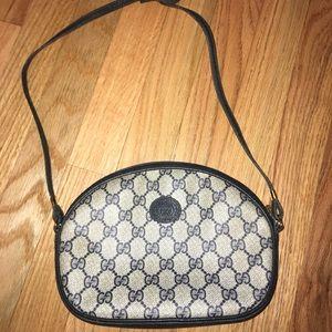 Vintage Gucci Monogram Oval Crossbody Bag